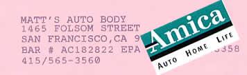 Matt's Auto Body and AMICA insurance bugs