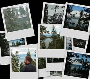 Collage of Lake Tahoe